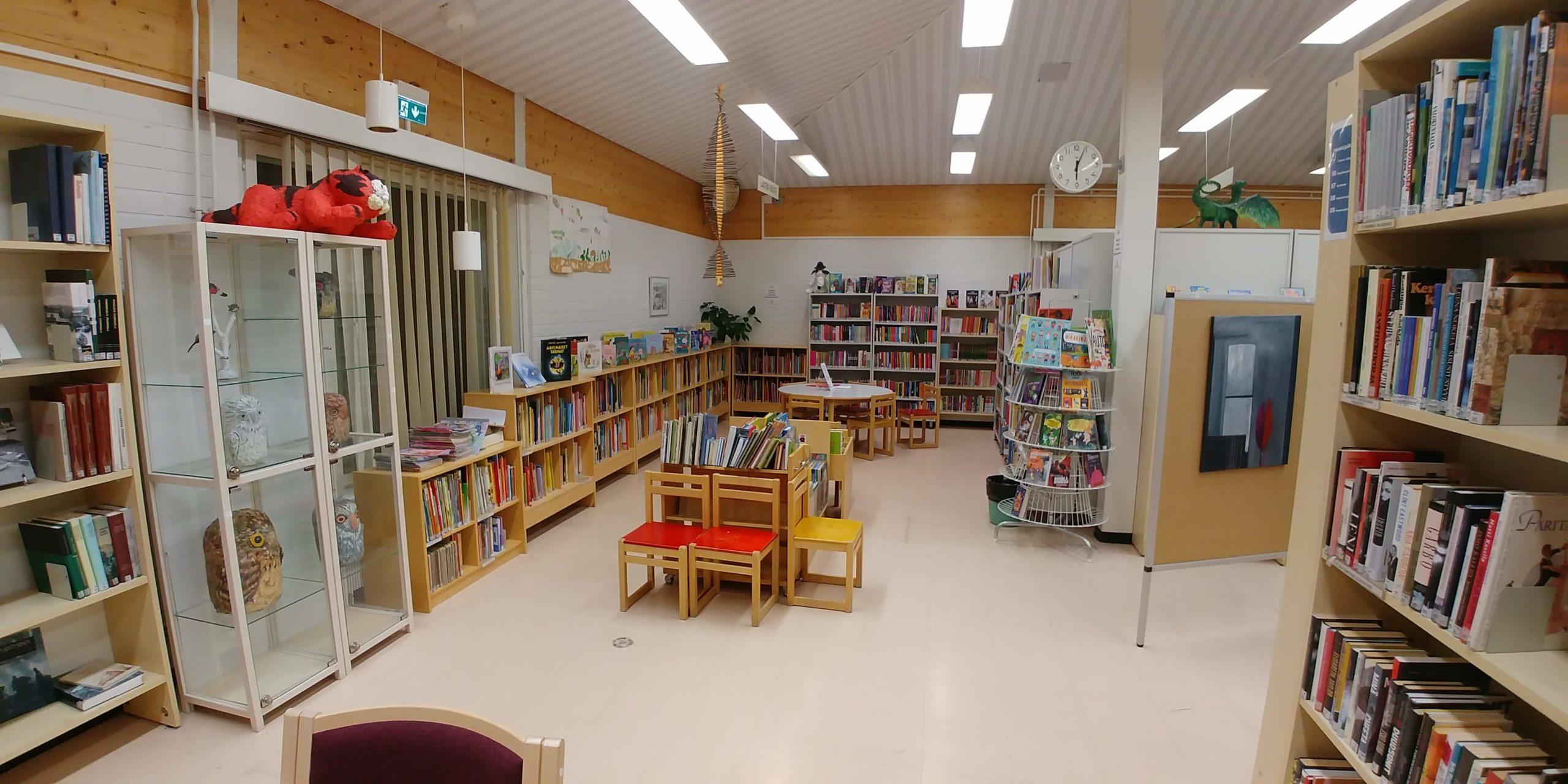 Haukivuoren kirjaston lastenosastoa