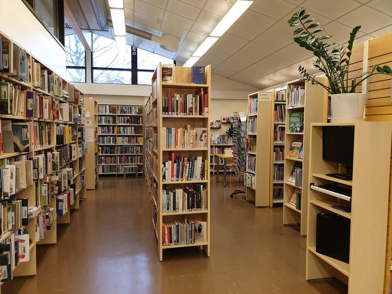 Jäppilän kirjaston tiloja